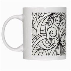 Drawing Floral Doodle 1 White Coffee Mug