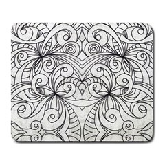 Drawing Floral Doodle 1 Large Mouse Pad (Rectangle)