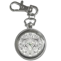 Drawing Floral Doodle 1 Key Chain & Watch
