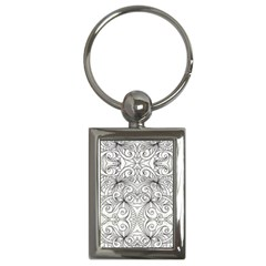 Drawing Floral Doodle 1 Key Chain (Rectangle)
