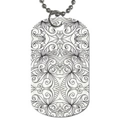 Drawing Floral Doodle 1 Dog Tag (One Sided)