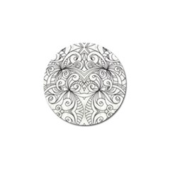 Drawing Floral Doodle 1 Golf Ball Marker