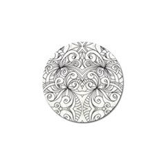 Drawing Floral Doodle 1 Golf Ball Marker 4 Pack