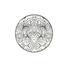 Drawing Floral Doodle 1 Golf Ball Marker (for Hat Clip)