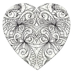 Drawing Floral Doodle 1 Jigsaw Puzzle (Heart)