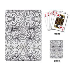 Drawing Floral Doodle 1 Playing Cards Single Design