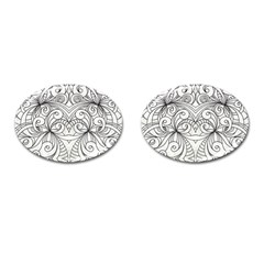 Drawing Floral Doodle 1 Cufflinks (Oval)