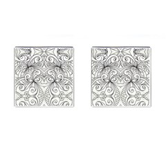 Drawing Floral Doodle 1 Cufflinks (Square)