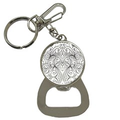 Drawing Floral Doodle 1 Bottle Opener Key Chain