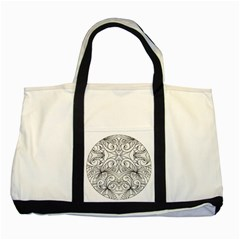 Drawing Floral Doodle 1 Two Toned Tote Bag