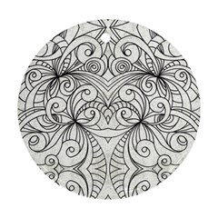 Drawing Floral Doodle 1 Round Ornament (Two Sides)