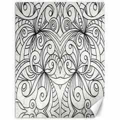 Drawing Floral Doodle 1 Canvas 12  X 16  (unframed)
