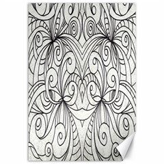 Drawing Floral Doodle 1 Canvas 12  x 18  (Unframed)
