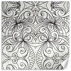 Drawing Floral Doodle 1 Canvas 16  x 16  (Unframed)