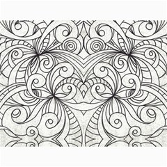 Drawing Floral Doodle 1 Canvas 18  X 24  (unframed)