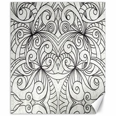 Drawing Floral Doodle 1 Canvas 20  x 24  (Unframed)