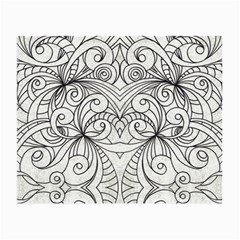 Drawing Floral Doodle 1 Glasses Cloth (Small, Two Sided)