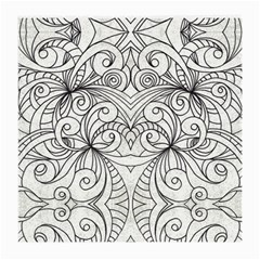 Drawing Floral Doodle 1 Glasses Cloth (Medium, Two Sided)