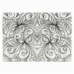 Drawing Floral Doodle 1 Glasses Cloth (Large, Two Sided)