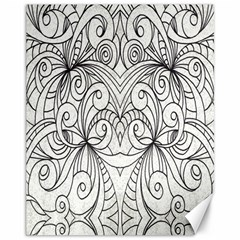 Drawing Floral Doodle 1 Canvas 11  X 14  (unframed)
