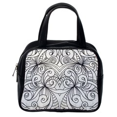 Drawing Floral Doodle 1 Classic Handbag (One Side)