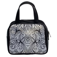 Drawing Floral Doodle 1 Classic Handbag (Two Sides)