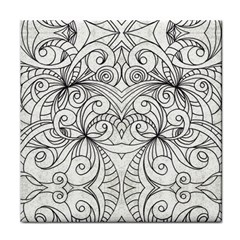 Drawing Floral Doodle 1 Face Towel