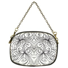 Drawing Floral Doodle 1 Chain Purse (Two Sided)
