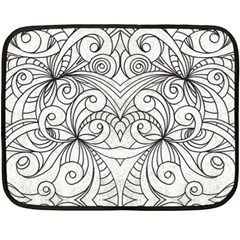 Drawing Floral Doodle 1 Mini Fleece Blanket (two Sided)