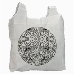 Drawing Floral Doodle 1 Recycle Bag (One Side)