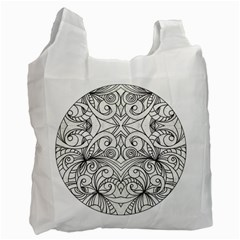 Drawing Floral Doodle 1 Recycle Bag (Two Sides)