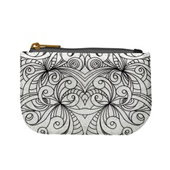 Drawing Floral Doodle 1 Coin Change Purse