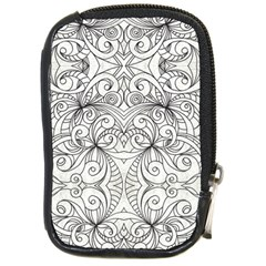 Drawing Floral Doodle 1 Compact Camera Leather Case