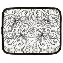 Drawing Floral Doodle 1 Netbook Sleeve (XL)