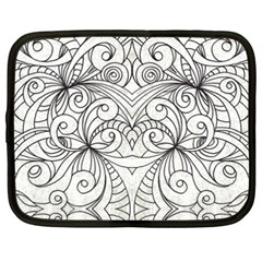 Drawing Floral Doodle 1 Netbook Sleeve (xxl)