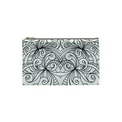 Drawing Floral Doodle 1 Cosmetic Bag (small)