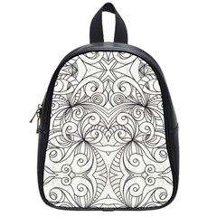 Drawing Floral Doodle 1 School Bag (Small)