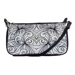 Drawing Floral Doodle 1 Evening Bag