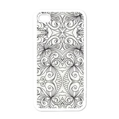 Drawing Floral Doodle 1 Apple Iphone 4 Case (white)