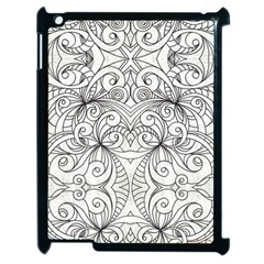 Drawing Floral Doodle 1 Apple iPad 2 Case (Black)