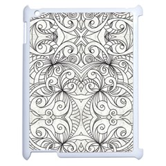 Drawing Floral Doodle 1 Apple iPad 2 Case (White)