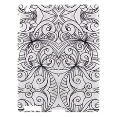 Drawing Floral Doodle 1 Apple iPad 3/4 Hardshell Case