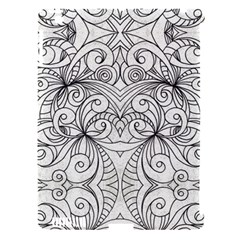 Drawing Floral Doodle 1 Apple iPad 3/4 Hardshell Case (Compatible with Smart Cover)