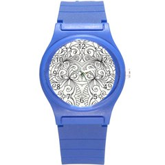 Drawing Floral Doodle 1 Plastic Sport Watch (Small)