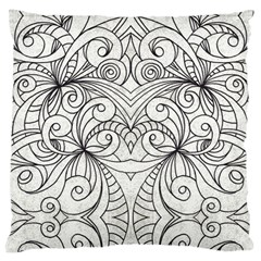 Drawing Floral Doodle 1 Large Cushion Case (Single Sided)