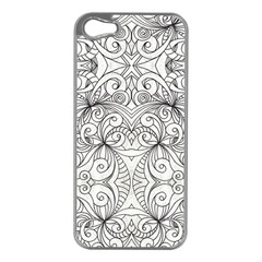 Drawing Floral Doodle 1 Apple Iphone 5 Case (silver)
