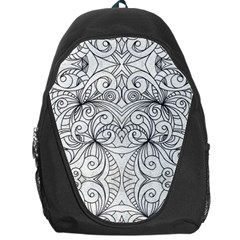 Drawing Floral Doodle 1 Backpack Bag
