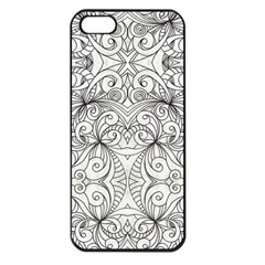 Drawing Floral Doodle 1 Apple Iphone 5 Seamless Case (black)