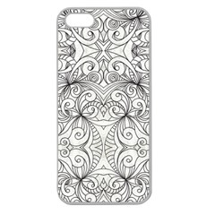 Drawing Floral Doodle 1 Apple Seamless Iphone 5 Case (clear)