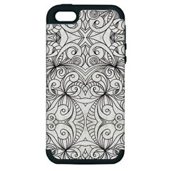 Drawing Floral Doodle 1 Apple iPhone 5 Hardshell Case (PC+Silicone)